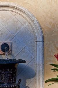 Limestone Plaster Arch